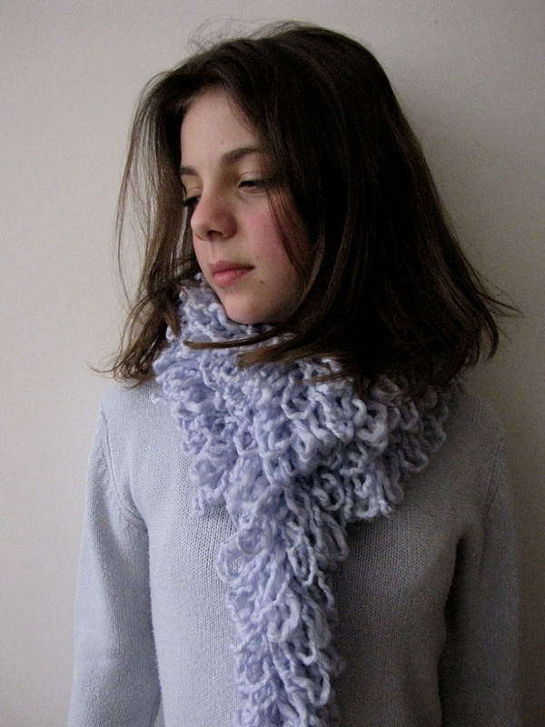 Thêm một cách làm khăn len không cần đan 8