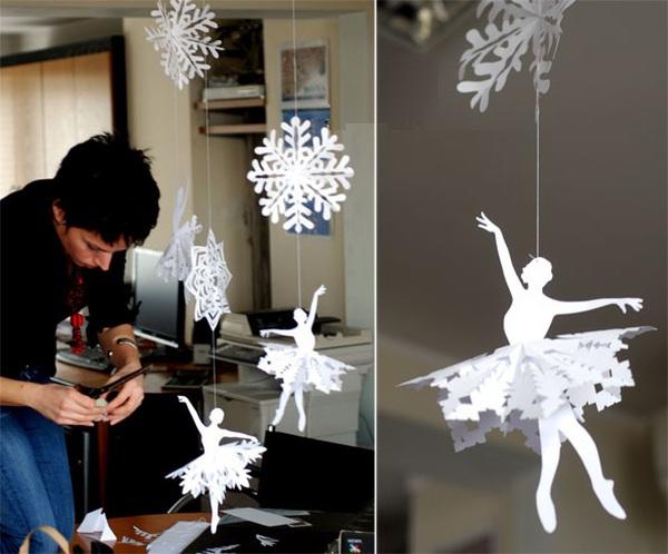 Trang trí Noel với hoa tuyết kirigami tuyệt đẹp 6
