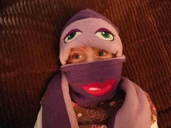 Ngộ nghĩnh bộ khăn mũ vải dạ cho mùa đông ấm áp 1