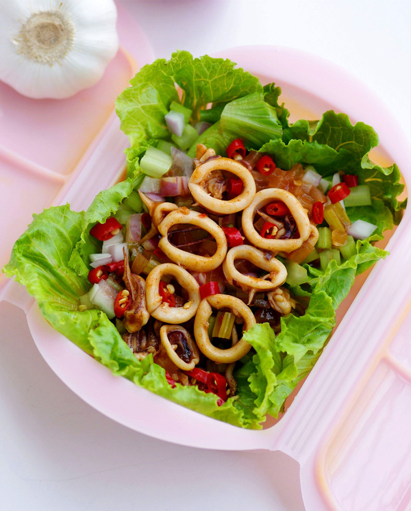 Món ngon cuối tuần: Mực hấp kiểu Thái   11