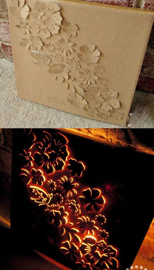 Làm tranh 3D đẹp lung linh từ bìa cứng 1