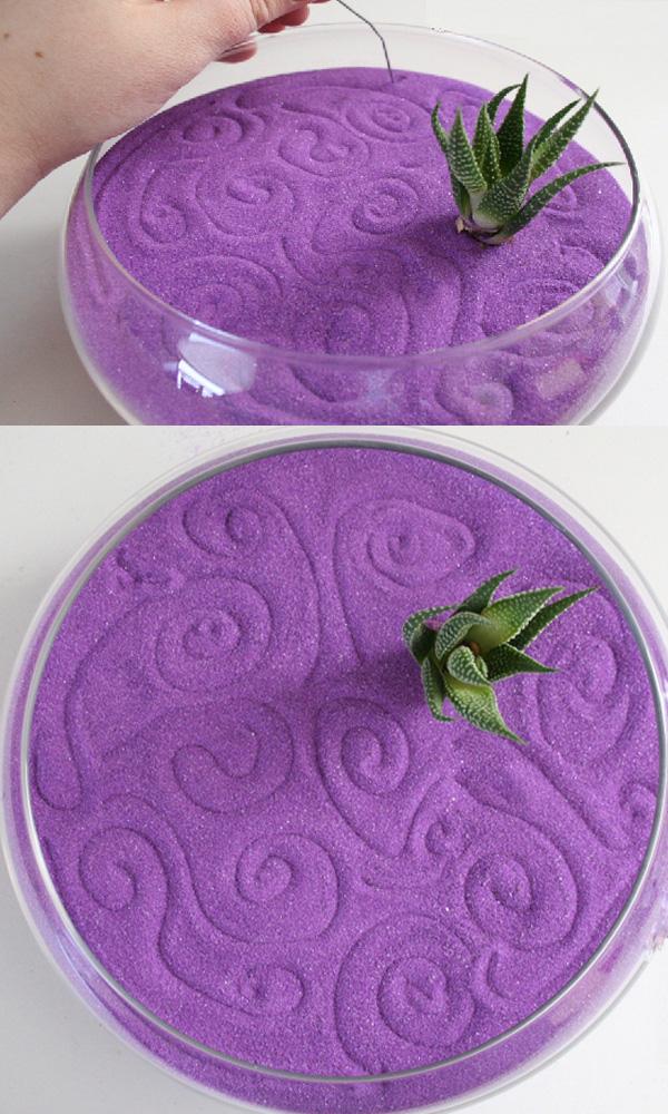 Cách trồng cây với cát màu trang trí nhà ấn tượng 7