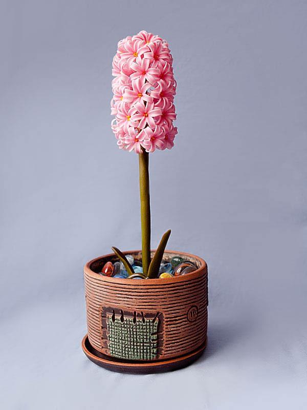 Dùng đất sét Nhật làm chậu hoa lục bình cực xinh 15