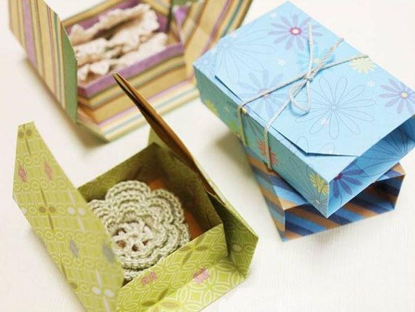 Gấp hộp quà xinh xắn theo phong cách Origami 12
