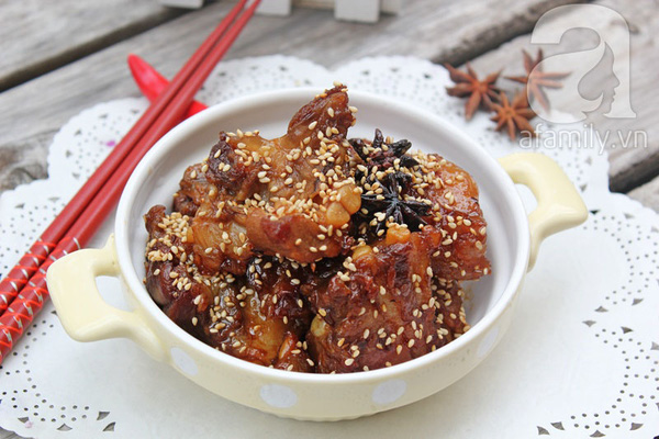 Sườn ram chua ngọt ngon cơm bữa chiều 8