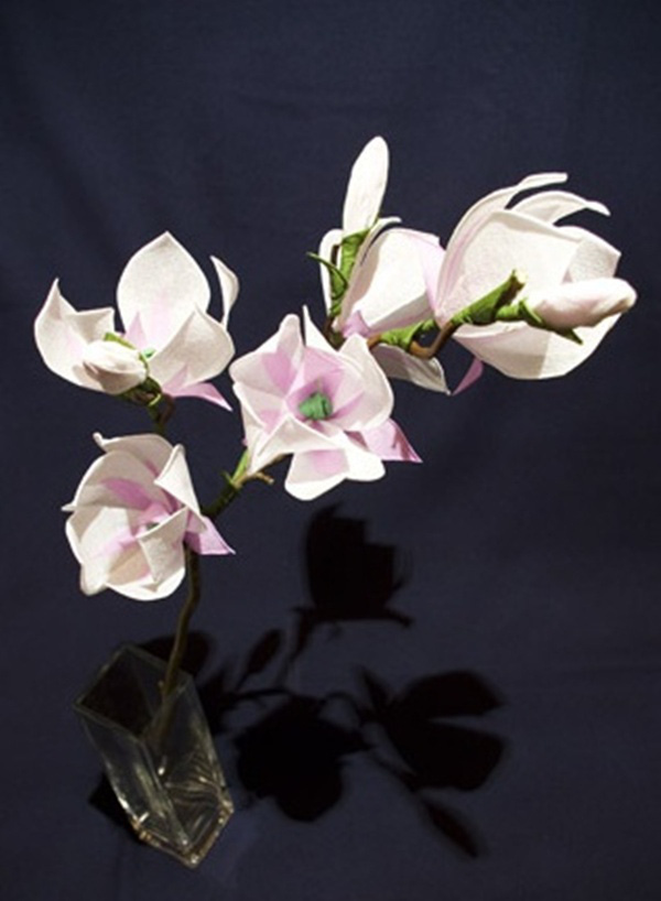 Làm hoa mộc lan giấy đẹp như hoa thật 8