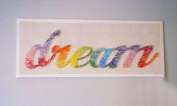 Tranh chữ làm từ len trang trí nhà thêm độc đáo 10