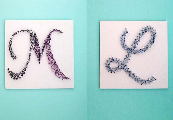 Tranh chữ làm từ len trang trí nhà thêm độc đáo 9
