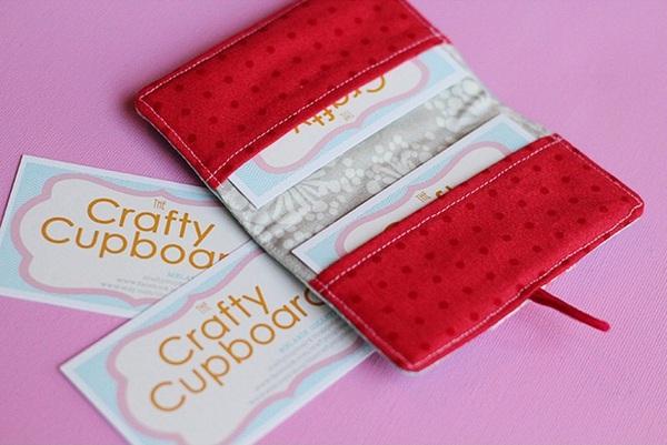 Tự may ví đựng thẻ nhỏ xinh tiện dụng 6