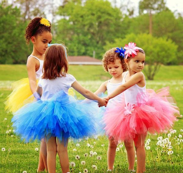 Cách may váy xòe đáng yêu cho bé gái 8