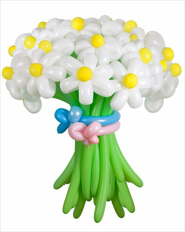 Làm hoa từ bong bóng thật rực rỡ và ấn tượng 1