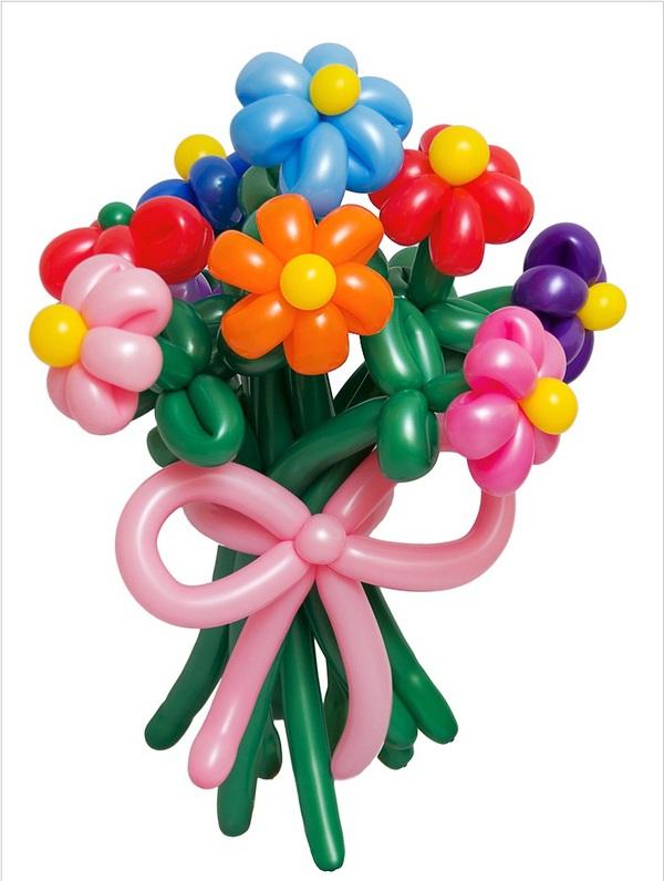Làm hoa từ bong bóng thật rực rỡ và ấn tượng 7