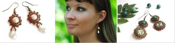 Tự chế khuyên tai hình giọt nước xinh lung linh 9