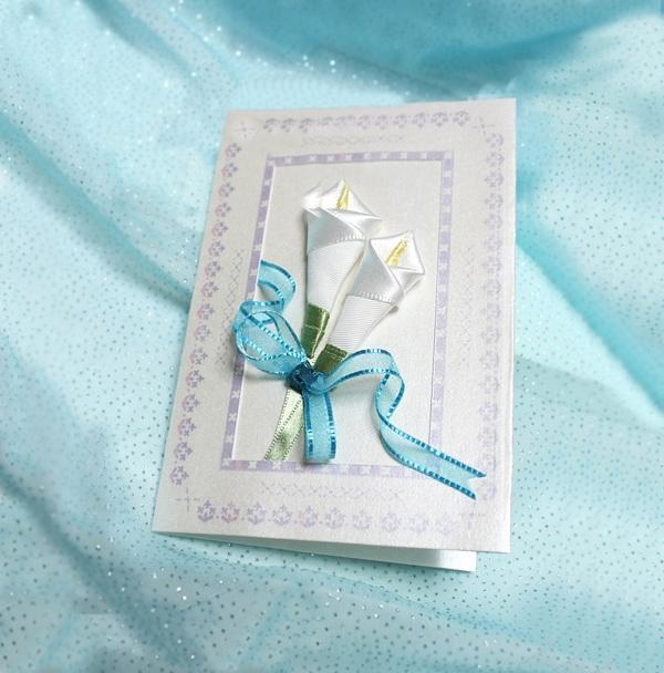 Cách làm thiệp hoa ruy-băng đơn giản mà đẹp 1