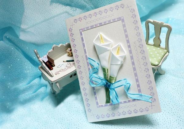 Cách làm thiệp hoa ruy-băng đơn giản mà đẹp 8