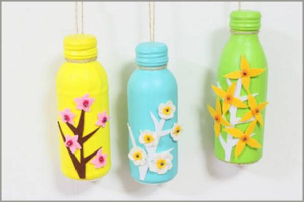 Đồ trang trí đẹp mắt tái chế từ chai nhựa 1