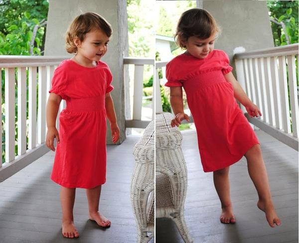 May váy đầm cho bé từ áo cũ của bố 7