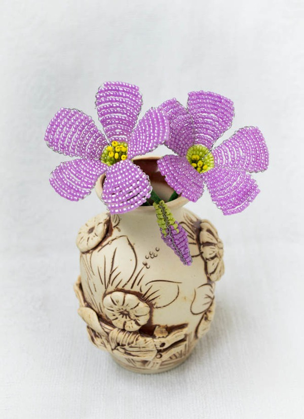 Kết cườm thành hoa sim tím lung linh sắc hè 7
