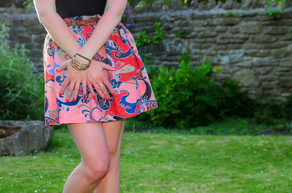 Tự may váy ngắn đơn giản mà xinh yêu 1