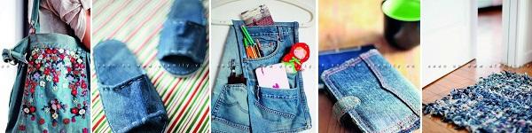 Túi xách denim thời trang tái chế từ đồ jean cũ 9