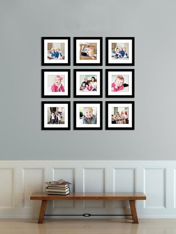 Giúp nhà thêm đẹp và gọn với 6 kiểu sắp xếp khung ảnh  1