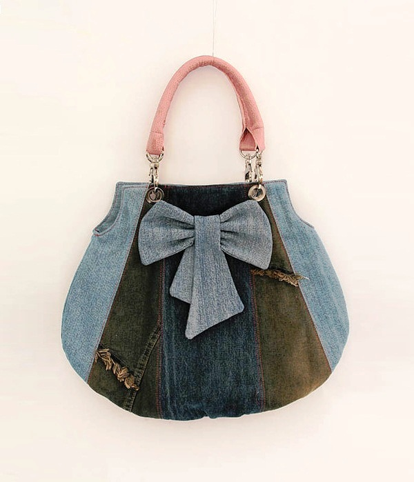 Túi xách denim thời trang tái chế từ đồ jean cũ 7