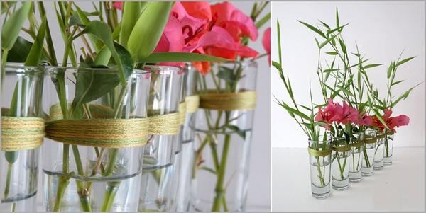 Biến ly thủy tinh thành bình cắm hoa độc đáo 1