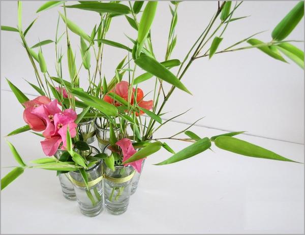 Biến ly thủy tinh thành bình cắm hoa độc đáo 7