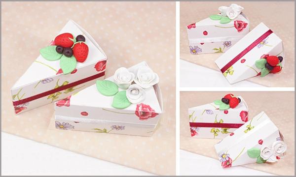 3 bước đơn giản gấp hộp quà hình bánh gato xinh xắn 8