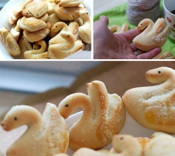 Làm bánh quy bơ hình thiên nga cực xinh 6