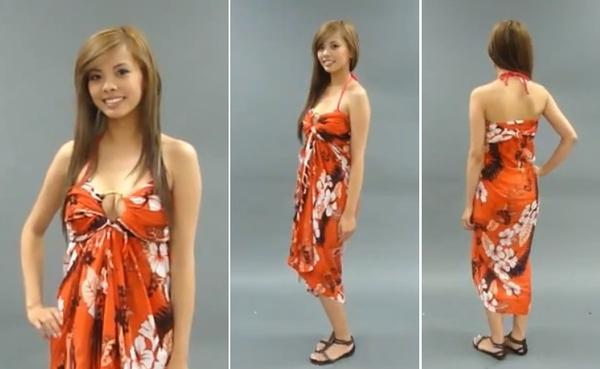 Độc đáo 3 cách quấn khăn thành váy đi biển tuyệt đẹp 23