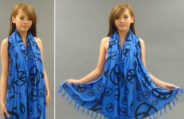 Độc đáo 3 cách quấn khăn thành váy đi biển tuyệt đẹp 17