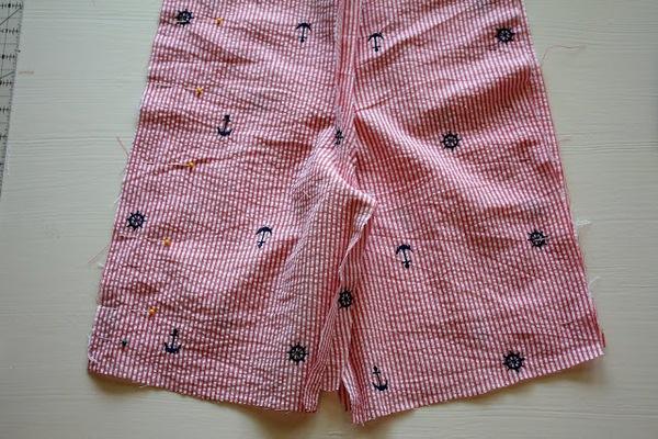 Mẹ khéo tay may quần short mùa hè cho bé trai  10
