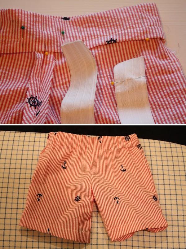Mẹ khéo tay may quần short mùa hè cho bé trai  14