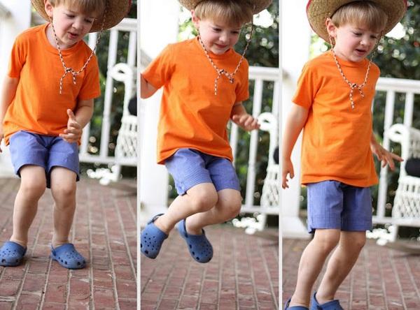 Mẹ khéo tay may quần short mùa hè cho bé trai  17