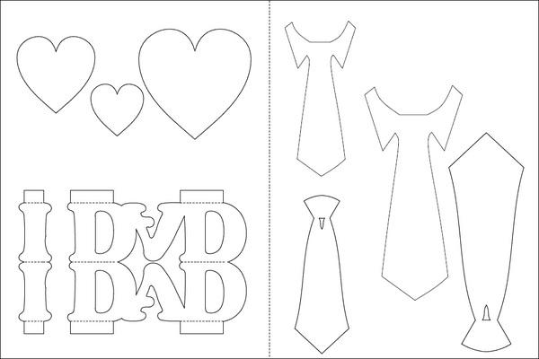 Tự làm thiệp nổi tặng cha nhân ngày Father's day 2