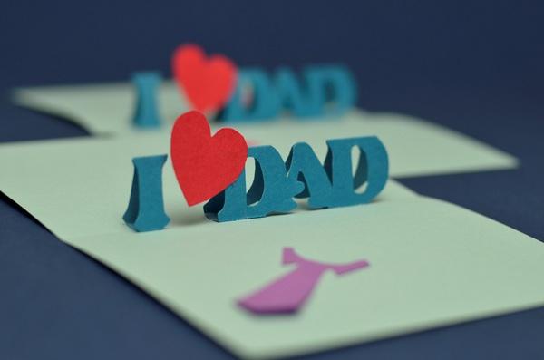 Tự làm thiệp nổi tặng cha nhân ngày Father's day 12