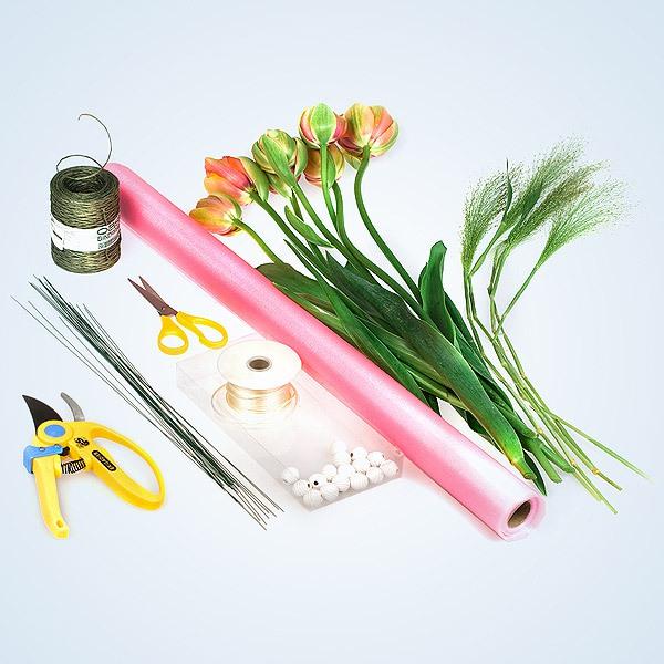 Cách bó hoa đẹp và dễ dàng cùng giấy gói hoa cách điệu 2