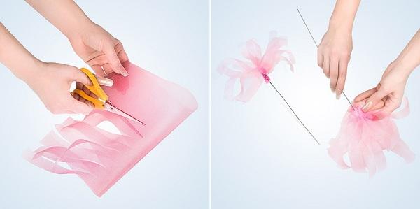 Cách bó hoa đẹp và dễ dàng cùng giấy gói hoa cách điệu 5