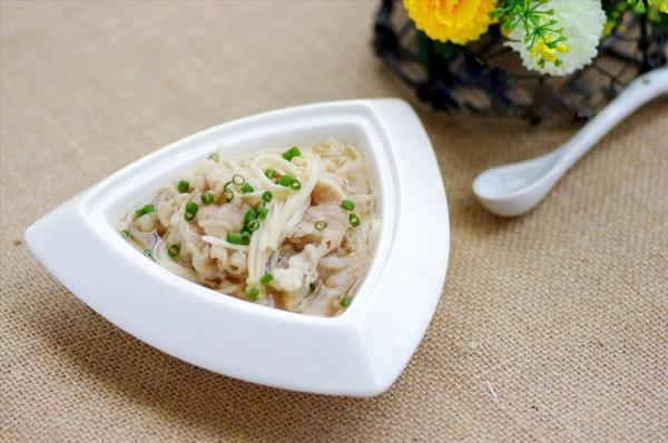 Canh thịt nấu nấm ngọt thơm mát lành 14