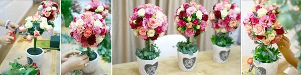 Làm hoa hồng giấy tuyệt đẹp từ giấy ăn 15