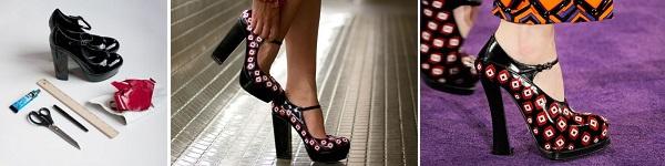 Tự nhuộm giày vải màu loang sành điệu, độc đáo 16