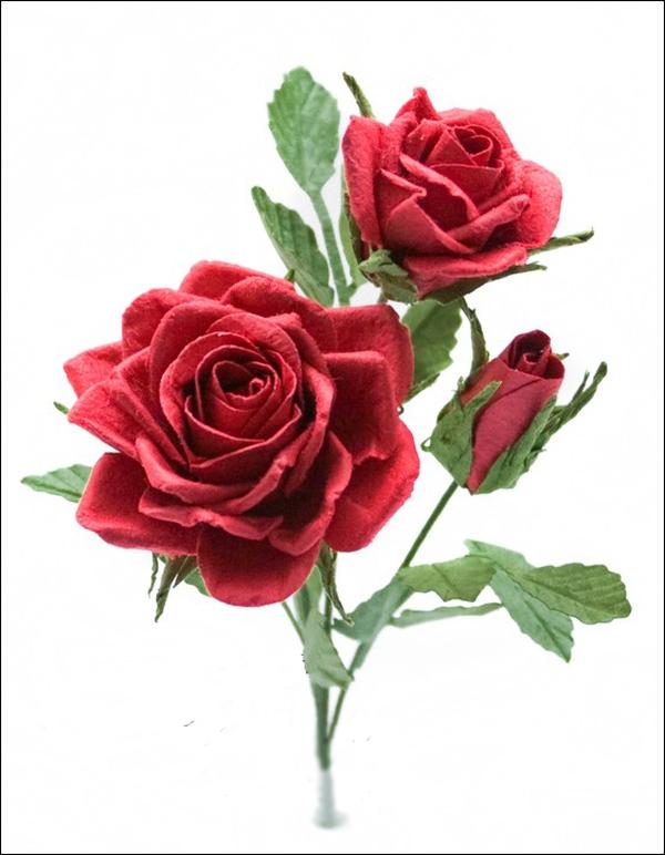 Hướng dẫn làm hoa hồng giấy đơn giản mà đẹp mắt 17