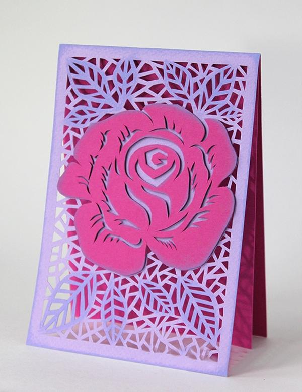 Tự làm thiệp hoa hồng kính tặng thầy cô ngày 20/11 13