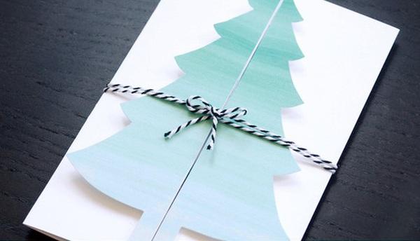 Cách làm thiệp Noel kiêm phong thư tuyệt đẹp 1