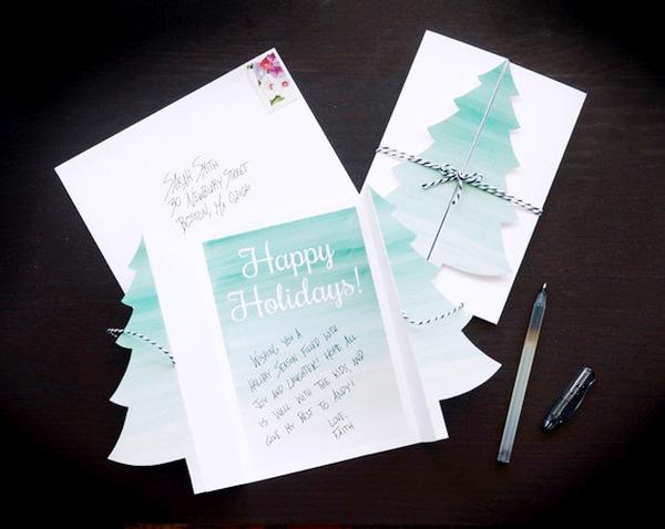 Cách làm thiệp Noel kiêm phong thư tuyệt đẹp 15