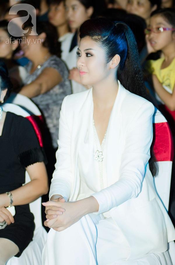 Hoa hậu Ngọc Hân xinh đẹp lạnh lùng 2