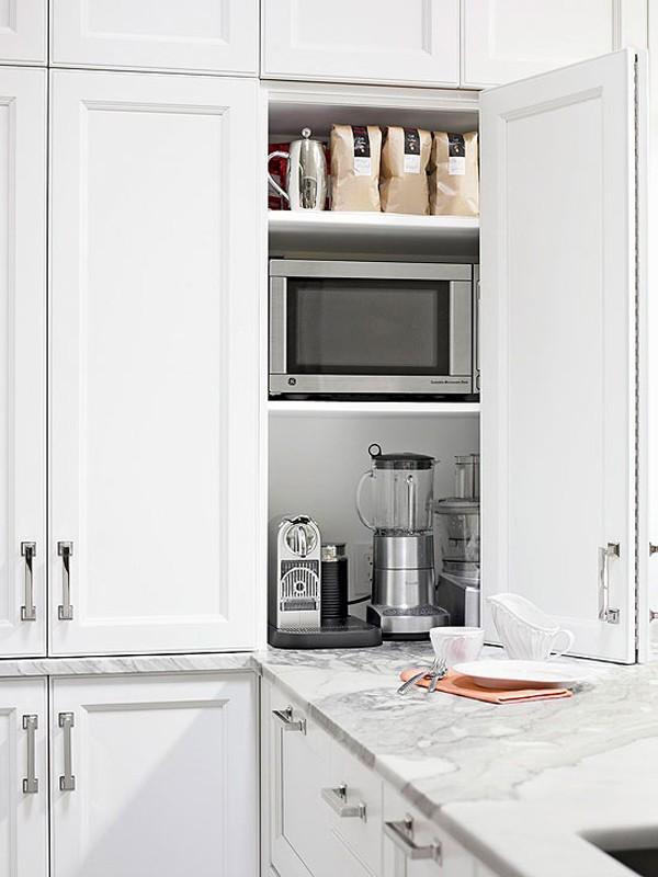 Bài trí bếp hiện đại, mát mẻ với sắc trắng 9