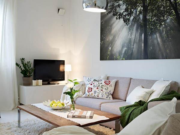 Ấn tượng với cách bài trí độc đáo của căn hộ 40 mét vuông màu trắng 4