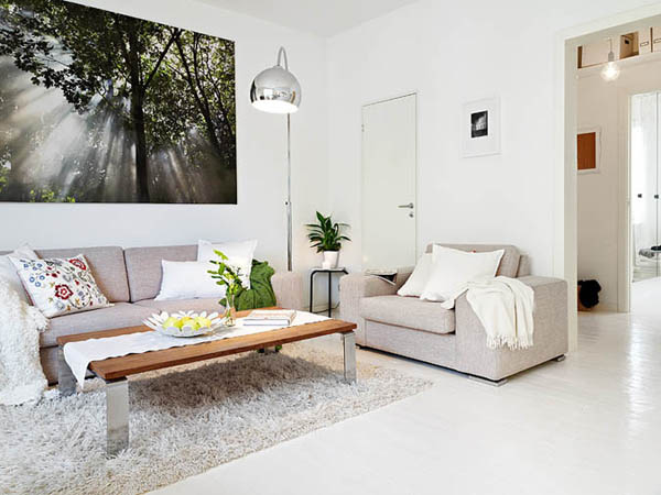 Ấn tượng với cách bài trí độc đáo của căn hộ 40 mét vuông màu trắng 3